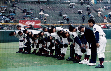高校野球甲子園出場時の写真